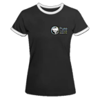 Women's Ringer T-Shirt Black